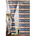 あすつく対応アジアン雑貨ハワイアン雑貨インテリアのれん暖簾アメリカンネイティブオルテガ柄(ネイビー)85×150cmハワイア雑貨メール便対応可