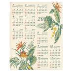 Yahoo!ハワイアン雑貨 holoholoお買い得セール ハワイアン雑貨 インテリア 2020年 ジュート カレンダー 壁掛けカレンダー ワンページ 花(エルバ バードオブパラダイス)