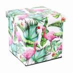 ハワイアン雑貨 収納ボックス&スツール 収納BOX (フラミンゴ)ハワイアン雑貨 ハワイアン 雑貨 かわいい ハワイ お土産 ハワイアン インテリア