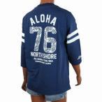 レディース 七分袖 Tシャツ ALOHA MADE アロハメイド ロングTシャツ(レディース/B.ネイビー) 201MA2LT008 メール便対応可 ハワイアン雑貨