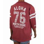 レディース 七分袖 Tシャツ ALOHA MADE アロハメイド ロングTシャツ(レディース/ S.レッド ) 201MA2LT008 メール便対応可 ハワイアン雑貨