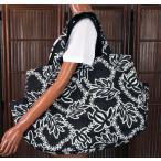 ハワイアン 雑貨 トートバッグ ハワイアン雑貨 フララニ 軽い 中綿 大トートバッグ 巾着タイプ(BLK) 202HU4BG009BLK
