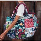 ハワイアン 雑貨 トートバッグ ハワイアン雑貨 フララニ 軽い 中綿 大トートバッグ 巾着タイプ(PNK) 202HU4BG009PNK
