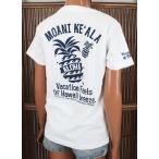 レディース 半袖 Tシャツ ハワイアン アロハメイド (レディース/ホワイト) ハワイアン雑貨 フララニ サーフブランド 雑貨 メール便対応可 202MA2ST042