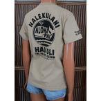 レディース 半袖 Tシャツ ハワイアン アロハメイド (レディース/L.ベージュ) ハワイアン雑貨 フララニ サーフブランド 雑貨 メール便対応可 202MA2ST046