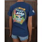 レディース 半袖 Tシャツ ハワイアン アロハメイド (レディース/B.ネイビー) ハワイアン雑貨 フララニ サーフブランド 雑貨 メール便対応可 202MA2ST056