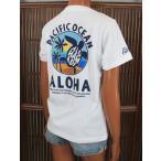 レディース 半袖 Tシャツ ハワイアン アロハメイド (レディース/ホワイト) ハワイアン雑貨 フララニ サーフブランド 雑貨 メール便対応可 202MA2ST066