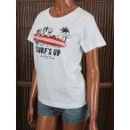レディース 半袖 Tシャツ ハワイアン SURF'S UP (レディース ホワイト) ハワイアン雑貨 サーフブランド 雑貨 メール便対応可 202SU2ST106WHT
