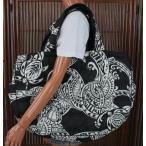 ハワイアン 雑貨 トートバッグ ハワイアン雑貨 フララニ 軽い 中綿 大トートバッグ 巾着タイプ(ホヌ/ブラック) サーフブランド ハワイアン マザーズバッグ