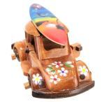ハワイアン雑貨 インテリア ウッドカー 木製 サーフボード ワーゲン(PUW-1801A) ハワイ 雑貨 ハワイ お土産 お洒落 木製インテリア