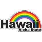 ハワイアン雑貨 インテリア ハワイ 雑貨 HID アイランドデザイン ステッカー(Hawaii) メール便対応可  ハワイ 土産 お土産 おみやげ