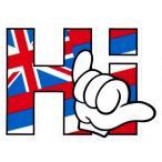 ハワイアン雑貨 インテリア ハワイ 雑貨 HID アイランドデザイン ステッカー(Hi-ハワイ州旗 SHAKA) メール便対応可  ハワイ 土産 お土産 おみやげ