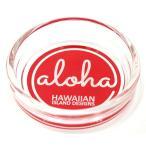 ハワイ 土産 お土産 ハワイアン インテリア ハワイアン雑貨 ハワイアンOld-Fashioned 小物入れ灰皿 マルチトレイ HOA-011 Aaloha(レッド) HID