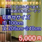 カーテン 1級遮光カーテンブラザー お取寄せサイズ 幅100cm×205〜240cm 2枚組