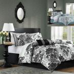 マディソンパーク Madison Park ベッド ベッドリネン bed linen ベッドカバー 掛け布団 7点セット 美しいダマスクス柄 - クイーンサイズ