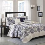 マディソンパーク Madison Park ベッド ベッドリネン bed linen ベッドカバー 薄手の上掛け布団 キルト6点セット ペイズリー柄 - キングサイズ