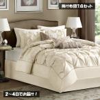マディソンパーク Madison Park ベッド ベッドリネン bed linen ベッドカバー 掛け布団 7点セット 無地 アイボリー - フルサイズ