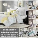マディソンパーク Madison Park ベッドリネン bed linen 掛け布団カバー 6点セット フローラル花柄 - クイーンサイズ