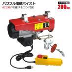 パワフル電動ホイスト 耐荷重200kg AC100V 電動ウインチ