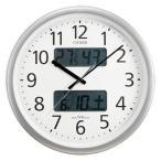 リズム時計 CITIZEN(シチズン)オフィス向け 温度・湿度計付電波掛時計 パルウェーブカレンダージムF 4FYA06-N19(メール便不可)