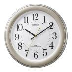 リズム時計(電波掛時計)CITIZEN(シチズン) 8MY509-018(連続秒針 見やすい凸文字 ゴールド)(8MY509018)(メール便不可)
