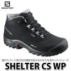 ショッピングスノーシューズ SALOMON シューズ SHELTER CS WP L37281100 (BLACK/BLACK/PEWTER) (メール便不可)(ラッピング不可)