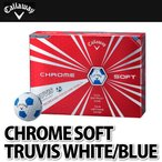 Callaway ゴルフボール CHROME SOFT TRUVIS 1ダース(12個入り)WHITE/BLUE 【メール便不可】
