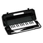沖縄離島不可 鍵盤ハーモニカ ピアニカ ケース バッグ ホース 32鍵 メロディオン キョーリツ P3001-32K BK ブラック (メーカー直送)(ラッピング不可)