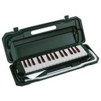 沖縄離島不可 鍵盤ハーモニカ ピアニカ ケース バッグ ホース 32鍵 メロディオン キョーリツ P3001-32K MGR モスグリーン (メーカー直送)(ラッピング不可)