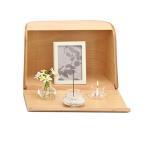 日本香堂 【仏具】 やさしい時間祈りの手箱 ナチュラル 小型 仏壇 おしゃれ コンパクト モダン 手元供養品 ペット用にも すぐ使える便利な セット