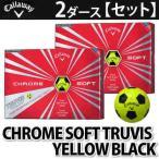Callaway ゴルフボール CHROME SOFT TRUVIS 2ダース(計24個) イエローブラック 【メール便不可】