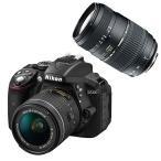 (タムロンAF70-300mmオリジナルダブルズームキット)ニコン D5300 AF-P 18-55 VRキット ブラック レンズキット (D5300LKP18-55)(Nikon)(メール便不可)