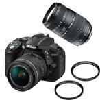 (ダブルズーム&フィルターセット)ニコン D5300 AF-P 18-55 VRキット ブラック デジタル一眼レフカメラ (D5300LKP18-55)(Nikon)(メール便不可)