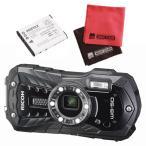 ショッピングデジタルカメラ (予備バッテリーセット)リコー RICOH WG-50 ブラック 防水・防塵・耐衝撃・防寒 デジタルカメラ(メール便不可)