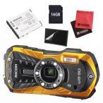 ショッピングデジタルカメラ (予備バッテリー付5点セット)リコー RICOH WG-50 オレンジ 防水・防塵・耐衝撃・防寒 デジタルカメラ(メール便不可)
