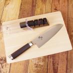 (送料無料)貝印 関孫六 ダマスカス 三徳 165mm AE-5200&シャープナー AP-0308セット(メール便不可)