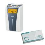 【タイムカードC 100枚付きセット】AMANO 電子タイムレコーダー CRX-200S シルバー [メーカー3年保証]【メール便不可】