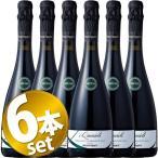 (6本ワインセット)クエルチオーリ レッジアーノ ランブルスコ セッコ 750ml(メディチ・エルメーテ)スパークリングワイン 赤 やや辛口