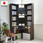 パソコンデスク コーナー 三角 ダブルディスプレイ対応 日本製 送料無料 J-Supply Ltd.(ジェイサプライ) js115dbr