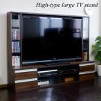 リビング壁面収納 テレビ台 ハイタイプ 180cm幅 60インチ TV台 テレビラック ゲート型AVボード TVボード 北欧 ブラウンウォールナット PD014