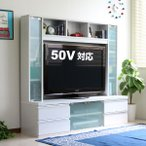 テレビ台 ハイタイプ 鏡面 50インチ TV台 テレビラック ゲート型AVボード ホワイト J-Supply Ltd.(ジェイサプライ)