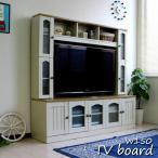 テレビ台 ハイタイプ カントリー 50インチ TV台 テレビラック ゲート型 ホワイト J-Supply Ltd.(ジェイサプライ) sav055 限定セールの画像