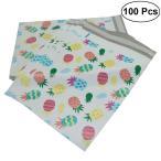 WINOMO 梱包袋 配送袋 宅配袋 ビニール封筒 パイナップル 厚手 防水 可愛い 26×33cm 強力テープ付き 100枚