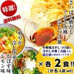 冷やし中華 冷つけ麺 セット お取り寄せ レモン味 & かぼす味 & 鰹だしつけ麺 3種6人前 さっぱり 冷し中華 冷麺 夏麺 訳ありお試しグルメ
