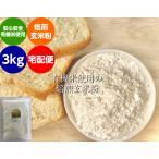 無農薬 米粉 有機栽培 安全安心 コシヒカリ  『焙煎』玄米粉 3kg 宅配便(送料別)米粉