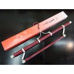 ショッピング着物 着物ハンガー きものハンガー 日本製品  ロング 長尺  帯掛け付き 帯掛け部分 折り畳み式 伸縮型 日本製 エンジ赤色 淡いエンジ赤箱