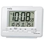 ショッピング目覚まし時計 SEIKO CLOCK セイコークロック デジタル電波目覚まし時計(白パール塗装) NR535H