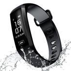 itDEAL スマートブレスレット 防水 活動量計 スマートウォッチ 多機能 Bluetooth4.0  (ブラック)