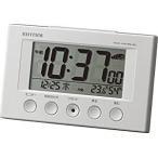 RHYTHM リズム 時計 電波 目覚まし 時計 デジタル フィットウェーブスマート 温度 湿度 カレンダー 表示 白 8RZ166SR03