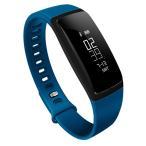 Gaddy スマートブレスレット 活動量計 心拍計 血圧測定 歩数計 IP67防水 Bluetooth4.0 スマートウォッチ ブルー